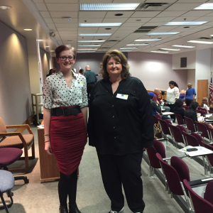 Alison Oliphant and Tanya Gabrielson at the National Center for Women & Information Technology Award ceremony.