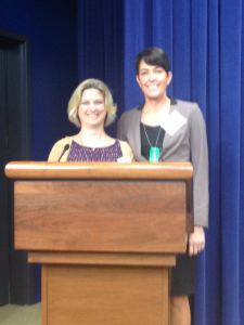 Dr. Cheryl Charlton and Dr. Sherawn Reberry take the podium at the White House