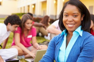 Site Coordinators helping students